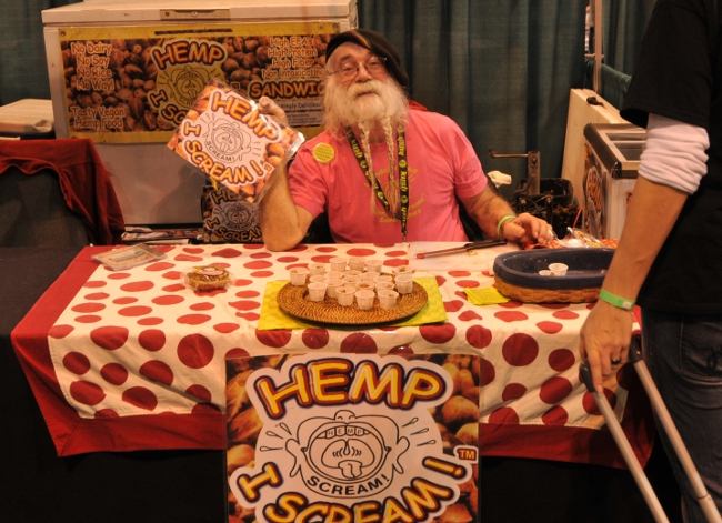 Agua Das, founder and inventor of Hemp I Scream, at KushCon2