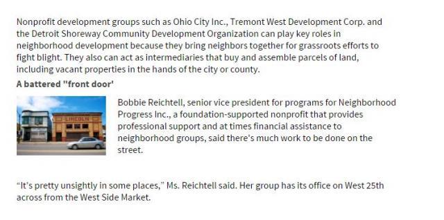 Bobbi Reichtell - Mark McDermott CHN-Neighborhood Progress connection