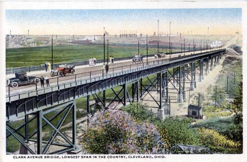 Clark Avenue Bridge, Longest Span in the Country, Cleveland, Ohio ca. 1917