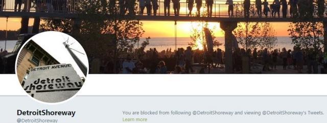 Detroit Shoreway - you are blocked