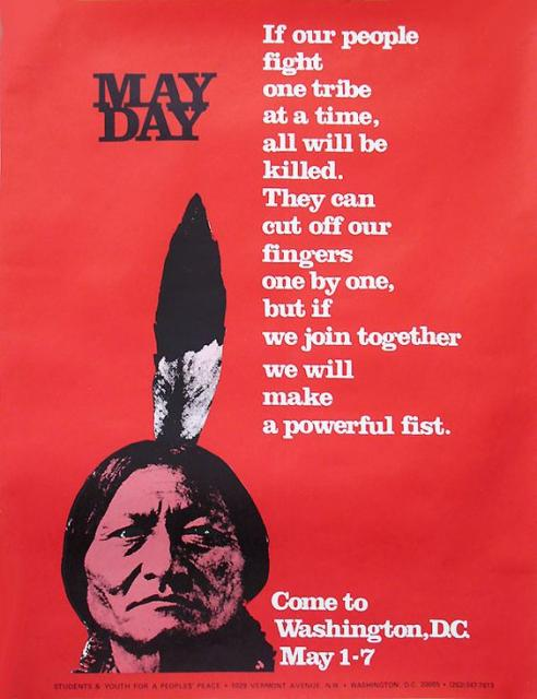 May Day Tribe poster May 1 1971