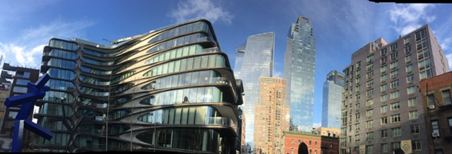 Hudson Yards re-build from hi line next to Hadid building