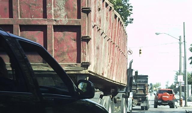Trucks on Clark Avenue