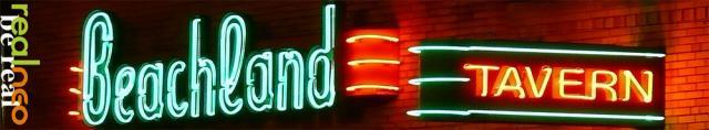 BEACHLAND BALLROOM & TAVERN NEON SIGNS CLEVELAND OHIO