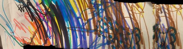 child's enthusiastic art