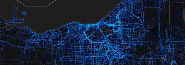 strava heat ride mapping n ohio