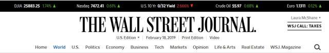 READ - the WALL STREET JOURNAL