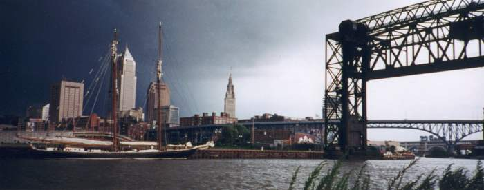 Cuyahoga River seen from Whiskey Island